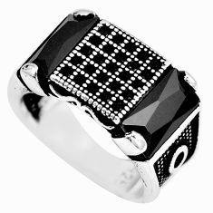 6.98cts black onyx topaz 925 sterling silver mens ring jewelry size 7 c11402