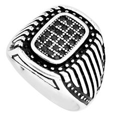 2.66cts black topaz round 925 sterling silver mens ring jewelry size 8.5 c11313