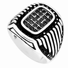 1.62cts black topaz round 925 sterling silver mens ring jewelry size 9.5 c11319