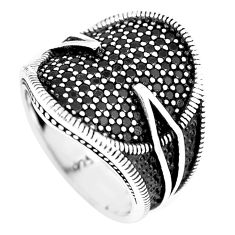 1.92cts black topaz round 925 sterling silver mens ring jewelry size 8.5 c11321