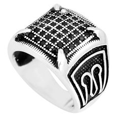 2.61cts black topaz round 925 sterling silver mens ring jewelry size 8 c11312