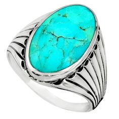 7.40cts blue arizona mohave turquoise 925 silver mens ring size 12 c10037