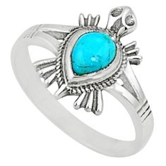 1.62cts blue arizona mohave turquoise 925 silver solitaire ring size 8.5 r68782