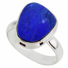 5.32cts blue australian opal (lab) 925 sterling silver ring size 7 r42561