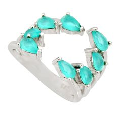 4.52cts blue chalcedony 925 silver adjustable ring size 4.5 c9097