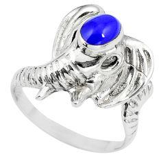 5.02gms blue lapis lazuli 925 silver elephant ring jewelry size 6.5 c12693
