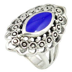 Blue lapis lazuli 925 sterling silver ring jewelry size 5.5 c12028
