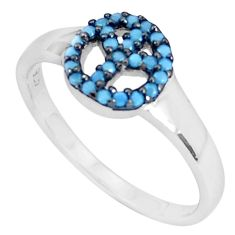 1.45cts blue sleeping beauty turquoise 925 sterling silver ring size 8.5 c23400