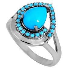 Blue sleeping beauty turquoise 925 sterling silver ring size 8.5 c23424