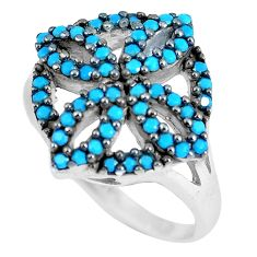 Blue sleeping beauty turquoise 925 sterling silver ring size 5.5 c23439