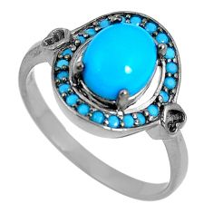 Blue sleeping beauty turquoise 925 sterling silver ring size 7.5 c23454