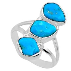 9.88cts blue sleeping beauty turquoise 925 sterling silver ring size 7 r65607