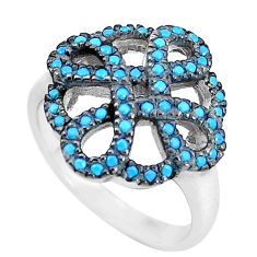 2.41cts blue sleeping beauty turquoise 925 sterling silver ring size 8 c23384