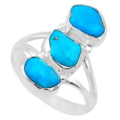 11.13cts blue sleeping beauty turquoise 925 sterling silver ring size 8 r65602