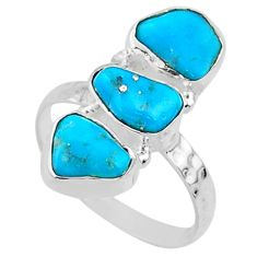 8.91cts blue sleeping beauty turquoise 925 sterling silver ring size 9 r65620