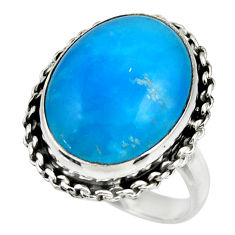 13.14cts blue smithsonite 925 sterling silver solitaire ring size 8.5 r28419