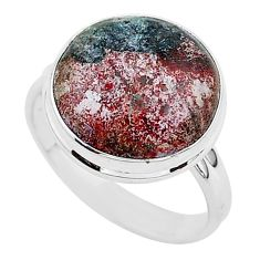 15.22cts blue sonora sunrise 925 silver solitaire ring jewelry size 10.5 r95770