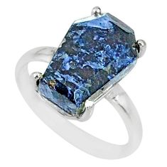 5.54cts coffin natural pietersite (african) 925 silver ring size 6.5 r82010