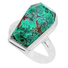 7.63cts coffin sonora sunrise 925 silver solitaire ring jewelry size 6.5 r96125