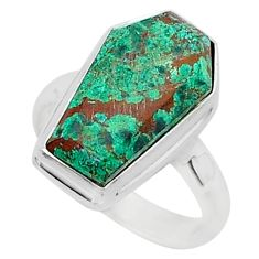 7.47cts coffin sonora sunrise 925 silver solitaire ring jewelry size 7 r96126