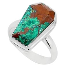7.94cts coffin sonora sunrise 925 silver solitaire ring jewelry size 8 r96124