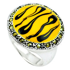 Color of joy marcasite enamel 925 sterling silver ring jewelry size 6.5 c18242