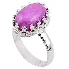 6.57cts crown natural phosphosiderite (hope stone) silver ring size 9 t43369