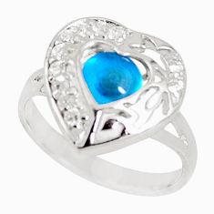 3.32cts blue evil eye talismans topaz 925 sterling silver ring size 8 c18696