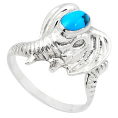 Fine blue turquoise 925 sterling silver ring jewelry size 7.5 c11897