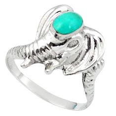 Fine green turquoise 925 sterling silver ring jewelry size 5.5 c11895