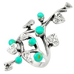 Fine green turquoise 925 sterling silver ring jewelry size 6.5 c12429