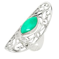Fine green turquoise 925 sterling silver ring jewelry size 5.5 c12654