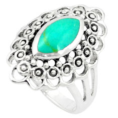 Fine green turquoise enamel 925 sterling silver ring size 8.5 c12038