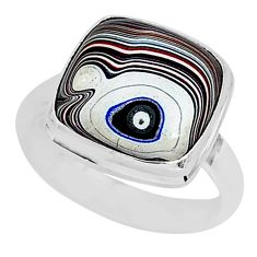 8.05cts fordite detroit agate 925 silver solitaire ring jewelry size 8.5 r92783