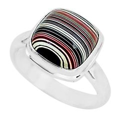 4.61cts fordite detroit agate 925 silver solitaire handmade ring size 6.5 r92825