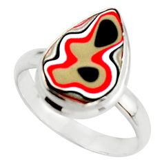 7.82cts fordite detroit agate 925 silver solitaire ring jewelry size 10 d46562