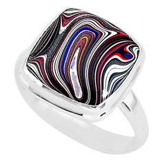 6.83cts fordite detroit agate 925 silver solitaire handmade ring size 10 r92802