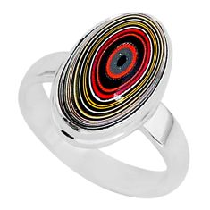 5.43cts fordite detroit agate 925 silver solitaire handmade ring size 6 r92810