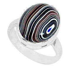 6.85cts fordite detroit agate 925 silver solitaire ring jewelry size 7 r92791