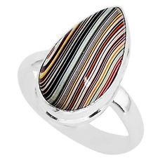 6.22cts fordite detroit agate 925 silver solitaire handmade ring size 7 r92801