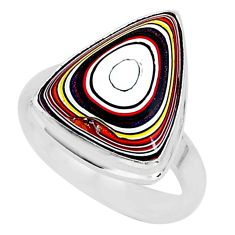 6.15cts fordite detroit agate 925 silver solitaire handmade ring size 7 r92806