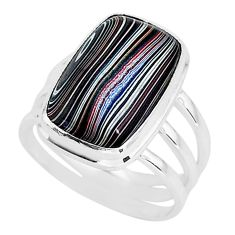 8.55cts fordite detroit agate 925 silver solitaire handmade ring size 7 r92816