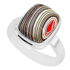 4.70cts fordite detroit agate 925 silver solitaire handmade ring size 7 r92829