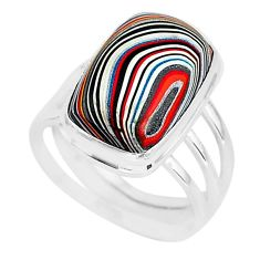 8.92cts fordite detroit agate 925 silver solitaire ring jewelry size 8 r92793