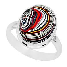 11.73cts fordite detroit agate 925 silver solitaire ring jewelry size 9 r92789