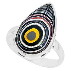 8.73cts fordite detroit agate 925 silver solitaire ring jewelry size 9 r92790