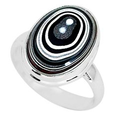 7.67cts fordite detroit agate 925 silver solitaire handmade ring size 9 r92812