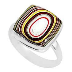 6.83cts fordite detroit agate 925 silver solitaire handmade ring size 9 r92813