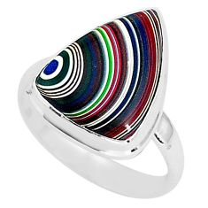 7.24cts fordite detroit agate 925 silver solitaire handmade ring size 9 r92817