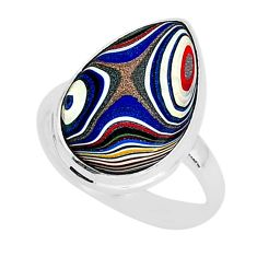 7.24cts fordite detroit agate 925 silver solitaire handmade ring size 9 r92820